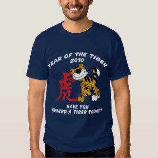 Año chino de las camisetas del tigre 2010 poleras