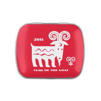 Año chino de las latas del Belly de la jalea del Jarrones De Caramelos