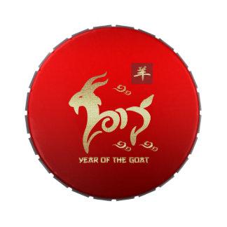 Año chino de las latas del Belly de la jalea del Frascos De Caramelos