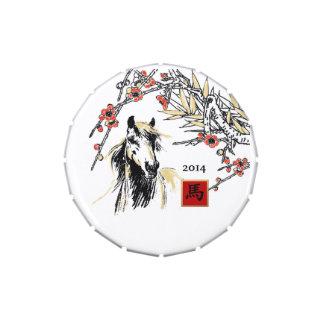 Año chino de las latas del Belly de la jalea del Frascos De Dulces
