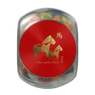 Año chino de las latas del Belly de la jalea del r Jarrones De Cristal