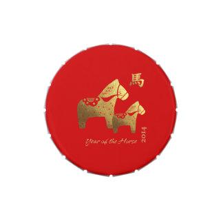 Año chino de las latas del Belly de la jalea del r Frascos De Caramelos