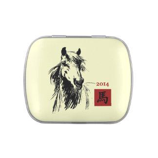 Año chino de las latas del Belly de la jalea del r Jarrones De Caramelos