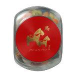 Año chino de las latas del Belly de la jalea del r Frascos Cristal