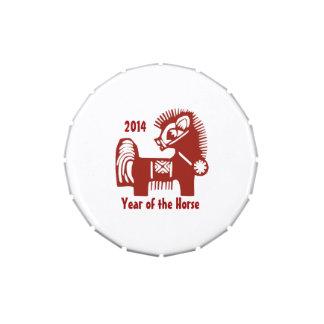 Año chino de las latas del Belly de la jalea del r Jarrones De Dulces