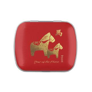 Año chino de las latas del Belly de la jalea del r Latas De Caramelos