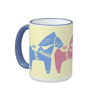 Año chino de las tazas del regalo del caballo
