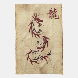 Año chino de las toallas del asiático del dragón