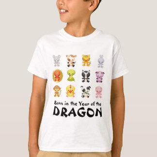 Año chino de los animales del zodiaco del dragón remera