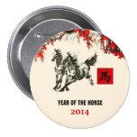 Año chino de los botones del regalo del caballo pins