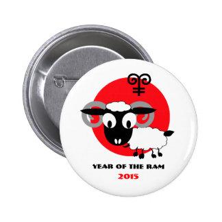 Año chino de los botones del regalo del espolón pin redondo de 2 pulgadas