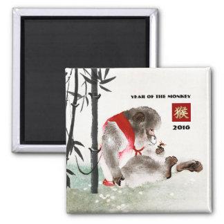 Año chino de los imanes 2016 del regalo del mono imán cuadrado