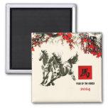Año chino de los imanes del regalo del caballo