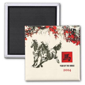 Año chino de los imanes del regalo del caballo imán cuadrado