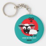 Año chino de los llaveros del regalo del espolón