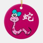 Año chino de los ornamentos del regalo de la serpi ornaments para arbol de navidad