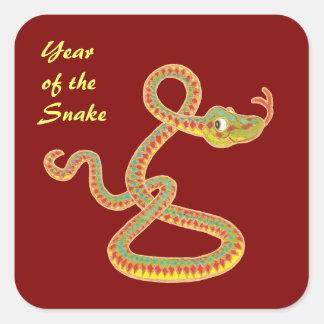 Año chino de los pegatinas de la serpiente