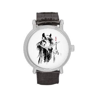 Año chino de los relojes del regalo del caballo