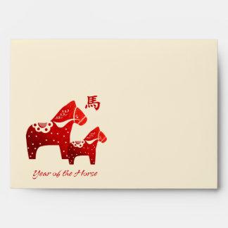 Año chino de los sobres del caballo