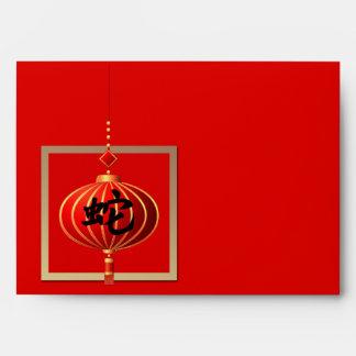 Año chino de los sobres del rojo de la serpiente