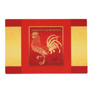 Año chino de oro del gallo Placemat 2017 Tapete Individual