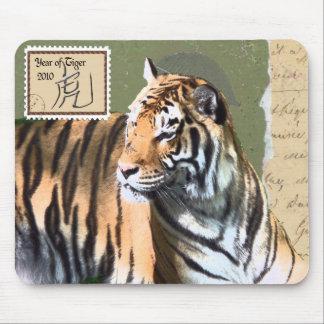 Año chino del Astrología-Tigre Tapetes De Ratones