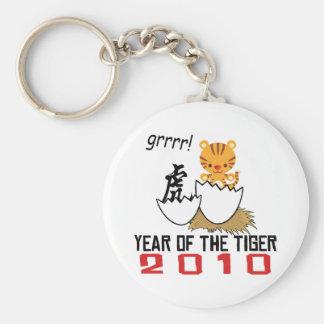 Año chino del bebé 2010 del tigre llavero redondo tipo pin