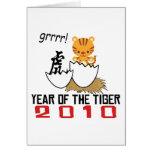 Año chino del bebé 2010 del tigre tarjeton
