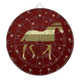 Año chino del caballo tablero de dardos