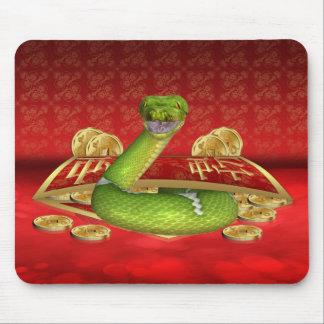 Año chino del cojín de ratón de la serpiente, este alfombrillas de ratones