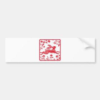 Año chino del conejo pegatina para auto