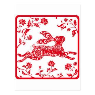 Año chino del conejo tarjetas postales