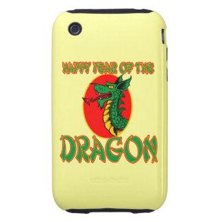 Año chino del dibujo animado del dragón tough iPhone 3 cárcasas