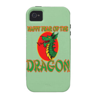 Año chino del dibujo animado del dragón iPhone 4/4S carcasa