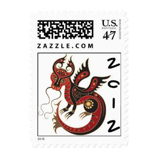 Año chino del dragón 2012 sellos