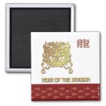 Año chino del dragón imán de nevera