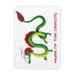 Año chino del dragón imanes