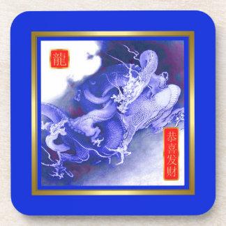 Año chino del dragón posavasos de bebidas