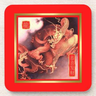 Año chino del dragón posavasos