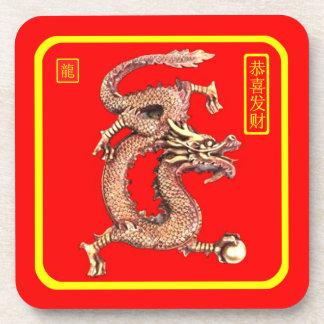 Año chino del dragón posavaso