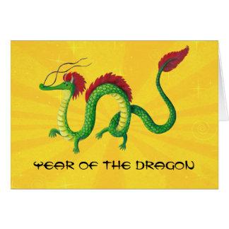 Año chino del dragón tarjetón