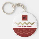 Año chino del llavero del regalo de la serpiente