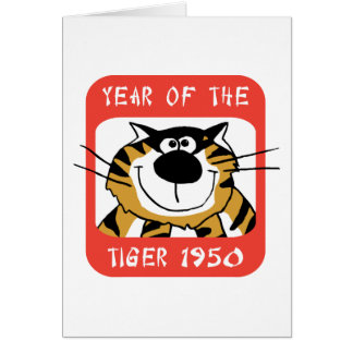 Año chino del regalo 1950 del tigre tarjeta de felicitación