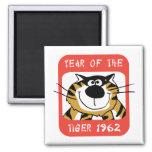 Año chino del regalo 1962 del tigre imán para frigorifico
