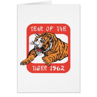 Año chino del regalo 1962 del tigre tarjeta de felicitación