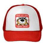 Año chino del regalo 1974 del tigre gorros bordados