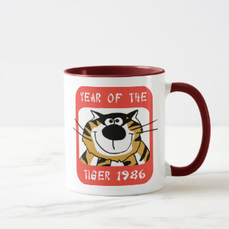 Año chino del regalo 1986 del tigre