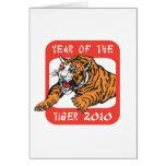 Año chino del regalo 2010 del tigre felicitacion