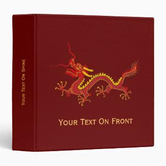 Año chino del rojo y del oro de la carpeta del dra