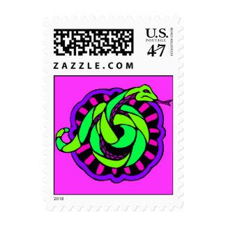 Año chino del sello de la serpiente dentro del